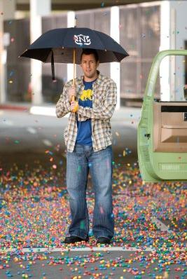 Adam Sandler in gumball rainstorm - Bedtime Stories
